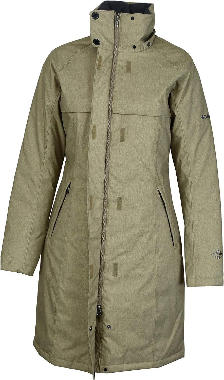Columbia Womens Flurry Run Down Long Omni Heat Jacket Coat Hooded Parka