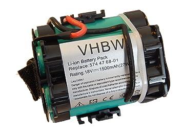 f73b142f97001 vhbw Li-Ion battery 1500mAh (18V) for robot lawn mower Husqvarna ...