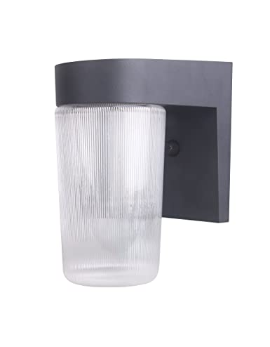 Coramdeo Outdoor Led Wall Lantern Jelly Jar Light 11w Replace 75w 800 Lumen Water Proof Etl And Energy Star Rated