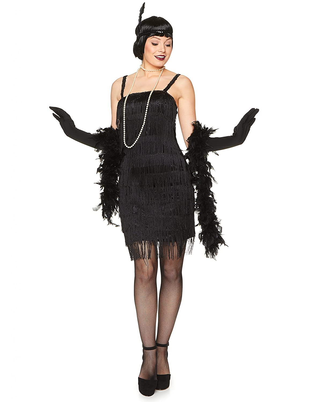 Karnival-1920s Black Flapper Dress Disfraz, Color negro, medium ...