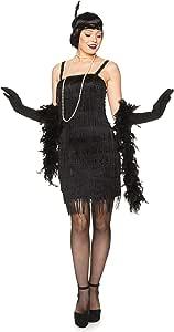 Generique Disfraz de Charlestón Negro Mujer XS: Amazon.es ...