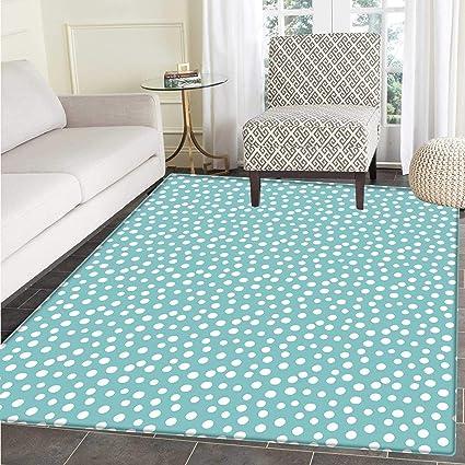 Amazoncom Turquoise Area Rug Carpet Retro Vintage 60s 50s Inspired