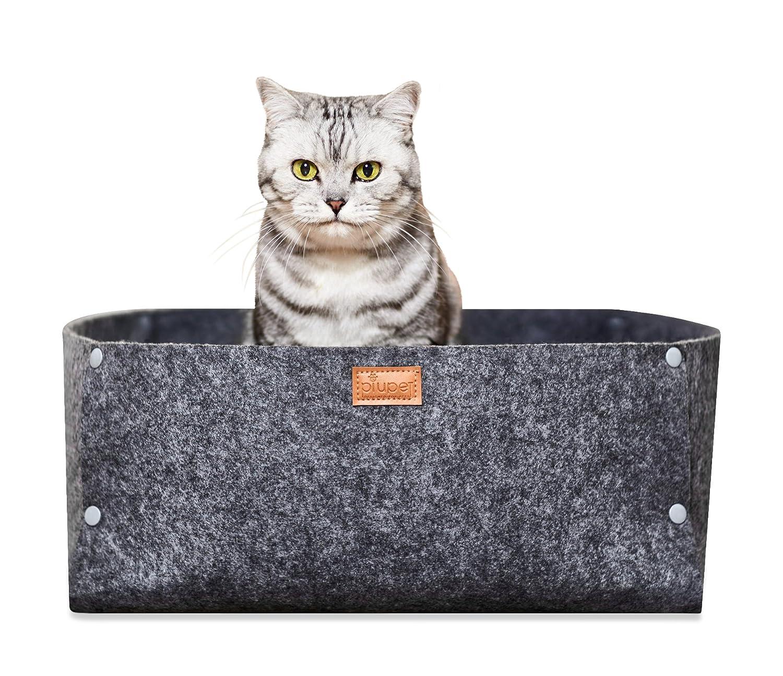 PiuPet Cama para Gatos cojín | Adecuado como una Manta para Perros pequeños | Cama de Gato Gris | Acogedora Cueva de Gatos |: Amazon.es: Productos para ...