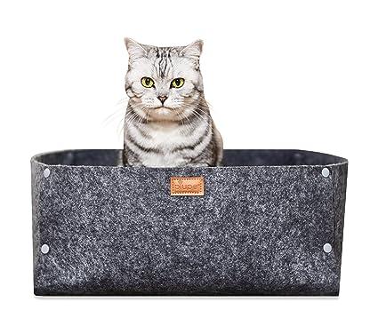 PiuPet Cama para Gatos cojín | Adecuado como una Manta para Perros pequeños | Cama de