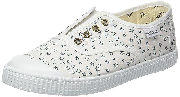 victoria Unisex-Kinder Ingles Elástico Estrellas Sneaker, Grau (Gris), 22 EU
