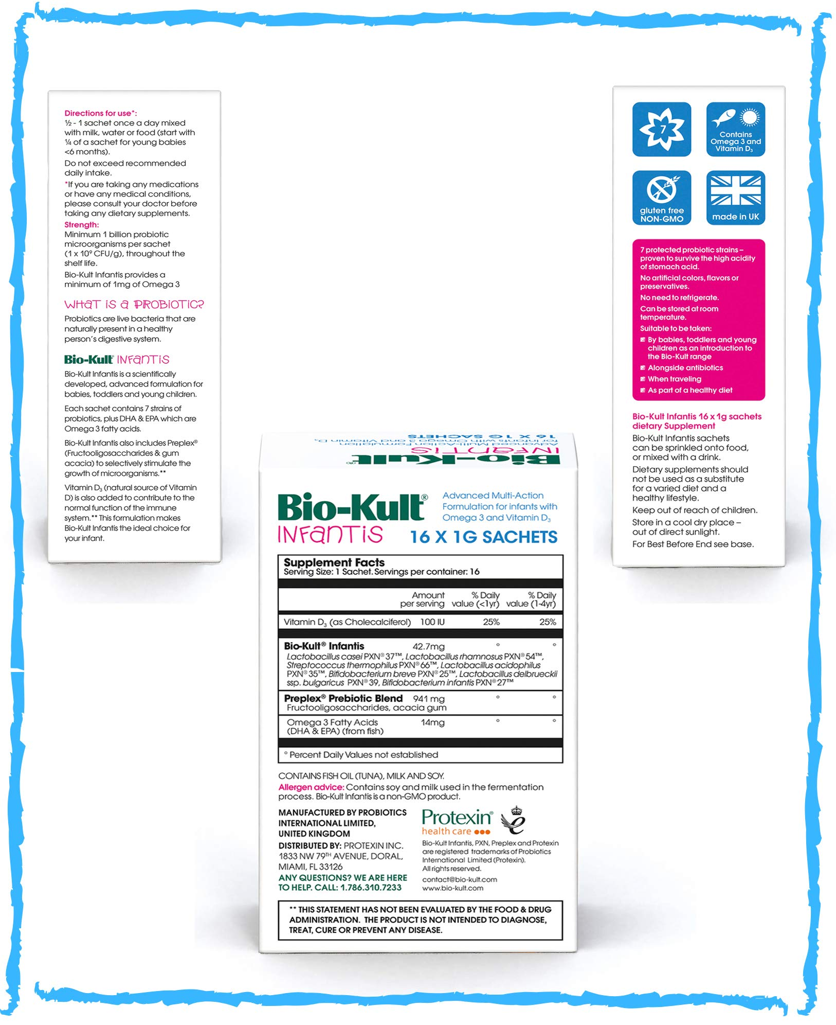 Bio Kult Infantis 16 Sachets Best Probiotics For Kids