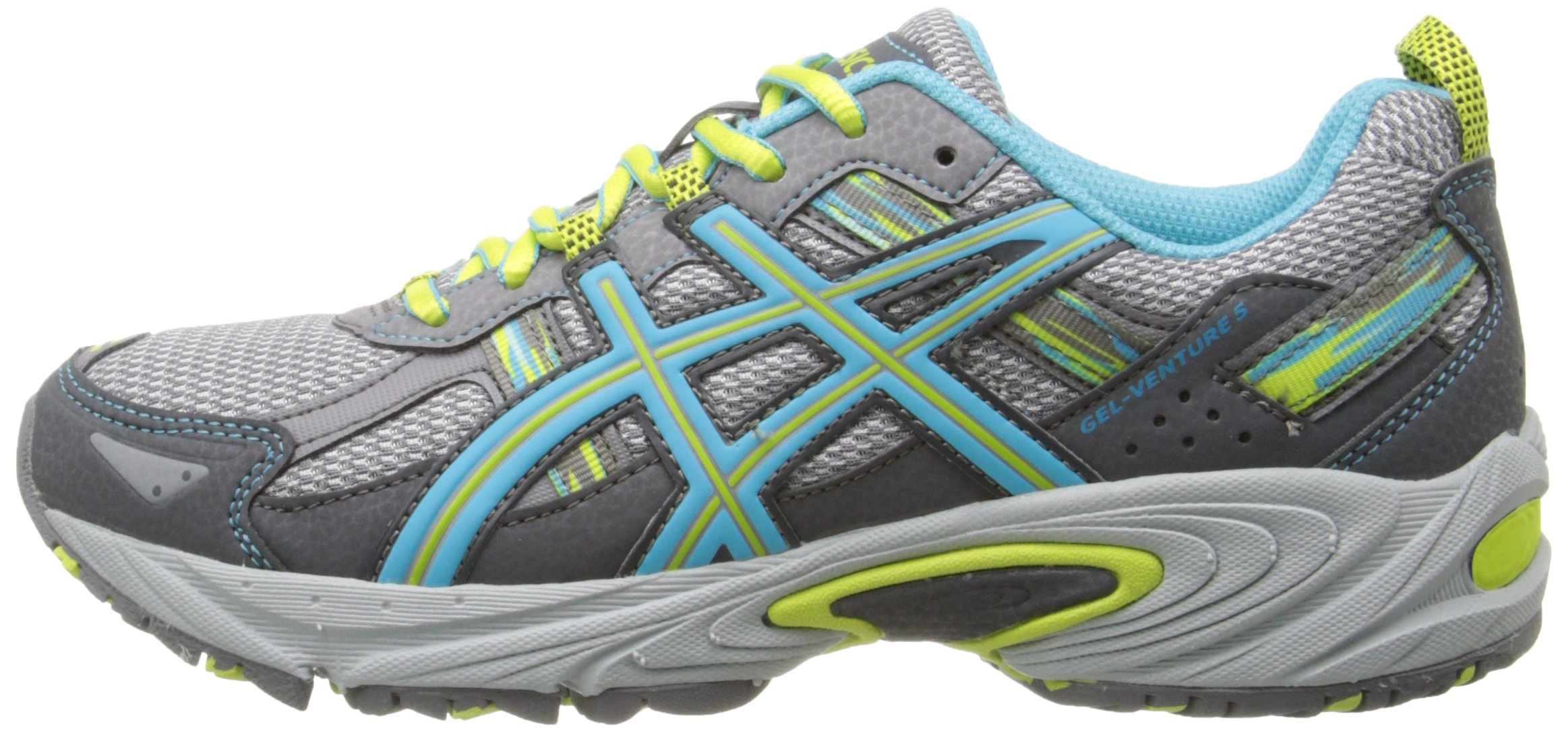 ASICS Women's Gel-Venture 5 Running Shoe, Silver Grey/Turquoise/Lime Punch, 6 M US by ASICS (Image #5)