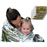 Emergency Survival Blanket Designed for NASA with up to 90% Heat Retention Waterproof Mylar Thermal Blankets for Backpacking Bug Out Bag First Aid Kit