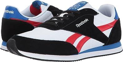 de97c677c1d7 Reebok Men s Royal CL Jogger 2 Black White Primal Red Awesome Blue Shoe