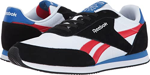 21ba38928c6cf Reebok Men s Royal CL Jogger 2 Black White Primal Red Awesome Blue Shoe