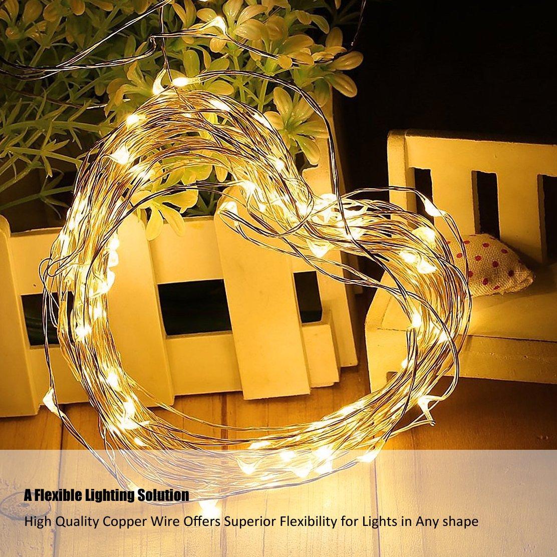 Cadrim 20er LED-Lichterkette Warmweiß Weihnachtsbeleuchtung Innen ...