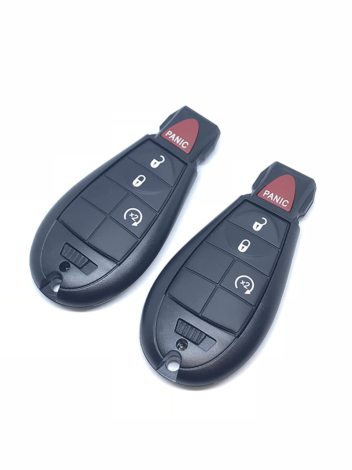 REMOTE STORE RAM Keyless Entry Remote Car Key for RAM Vehicles That Use 4 Button Fobik GQ4-53T with Remote Start - 2 Pack