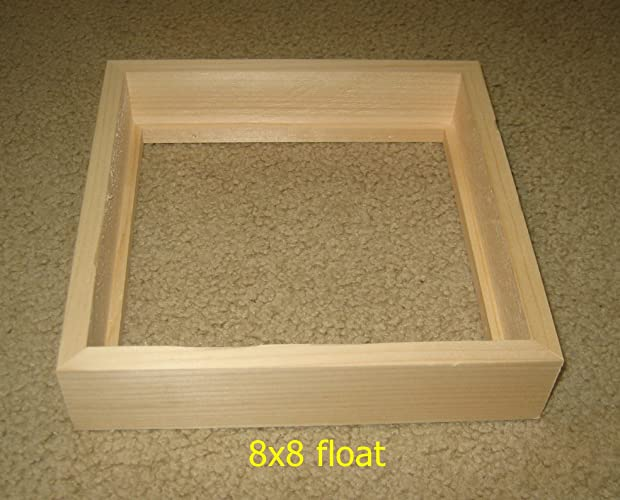 Amazon.com: Float, drop-in, front load 8x8 picture frame with 1.5 ...