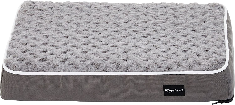 AmazonBasics Ergonomic Foam Pet Bed For Cats or Dogs