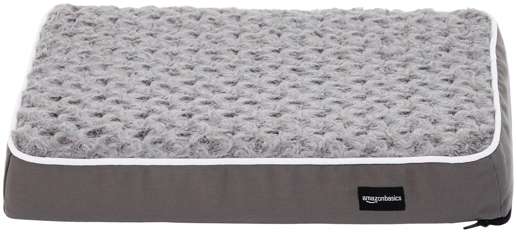 Amazon Basics Ergonomic Foam Pet Bed For Cats or Dogs