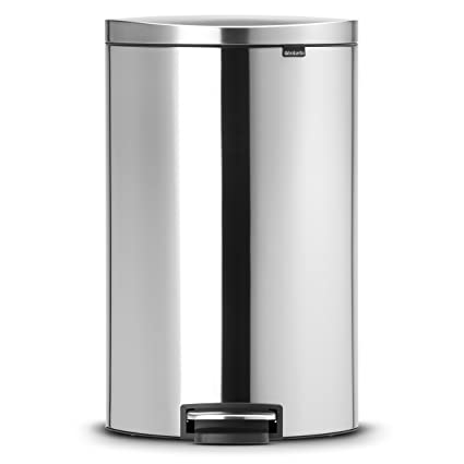Brabantia Touch Bin 30 Liter Wit.Brabantia Flatback Silent Pedal Bin 40 L Matt Steel
