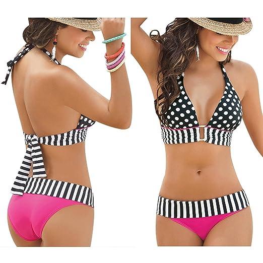 Amazon Com Lisli Womens Swimwear Bikini Set Bandeau Push Up Bra