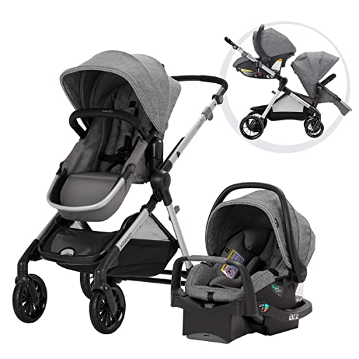 Evenflo Pivot Xpand Modular Travel System, Baby Stroller, Up to 22 Configurations, Extra-Large Storage, Single-to-Double Stroller, Durable ...