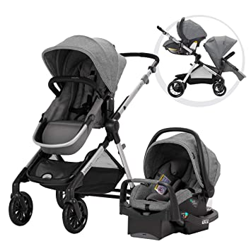 Evenflo Pivot Xpand Modular Travel System Baby Stroller Up To 22 Configurations Extra Large Storage