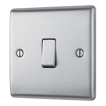 Masterplug NBS13 10A 1-Wege-Lichtschalter, 1 Modus, Metall ...