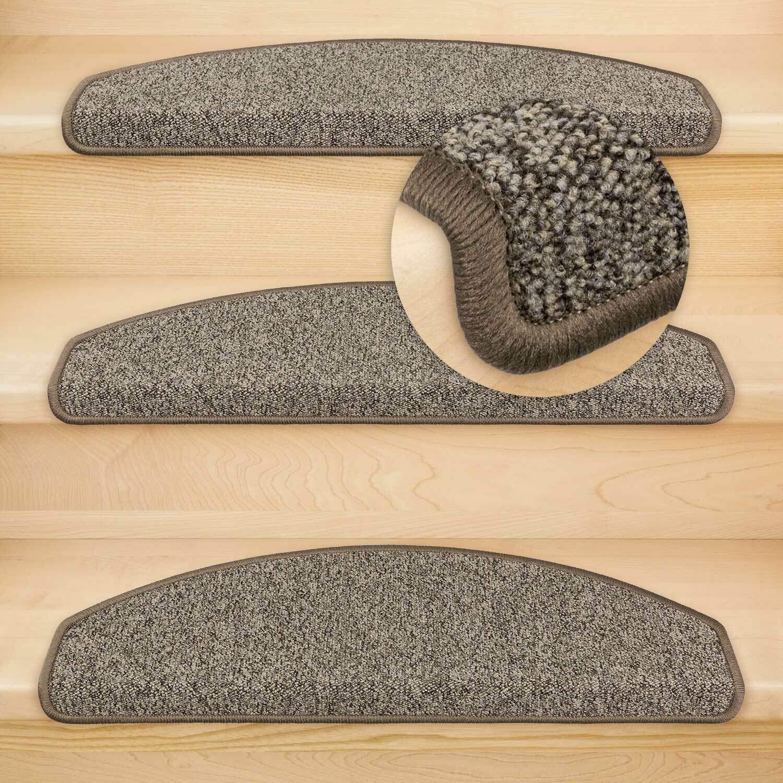 Kettelservice-Metzker Stufenmatten Vorwerk Durango Halbrund Einzeln und SparSet's Dunkelgrau 15 15 15 Stück B07P54Q21G Stufenmatten c62904