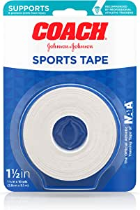 Johnson & Johnson Coach Sports Tape, 1.5 Inches By 10 Yards