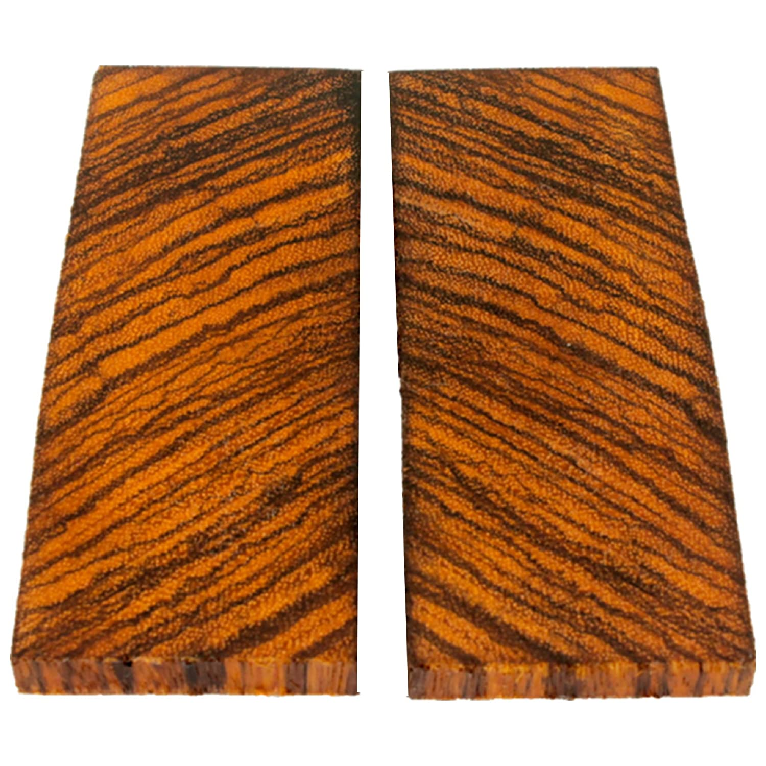 Bookmatched Zebrawood Knifes Scales, Handle Blank Exotic Knife Scales Wood