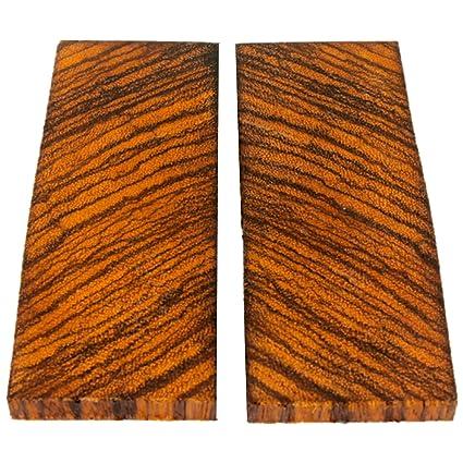 Amazon.com: 2 bookmatched báscula de cuchillos de madera de ...
