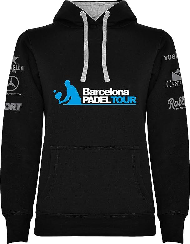 Barcelona Padel Tour Sudadera Mujer Negra S: Amazon.es: Ropa y ...