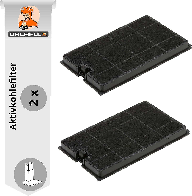 DREHFLEX - Filtro de carbón/filtro de carbón activo/filtro para diversos modelos de campana extractora/Esse/Campana/Microondas/Microondas Campana de la Casa Bauknecht/Whirlpool - Apto para 48400000867