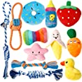 Toozey Puppy Toys, 12 Pack Puppy Toys for Teething Small Dogs, Cute Dog Toys Small Dogs, Stuffed Plush Squeaky Small Dog Toys