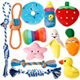 Toozey Puppy Toys for Teething Small Dogs, 12 Pack Cute Small Dog Toys, Stuffed Plush Squeaky Dog Toys Small Dogs, 100…