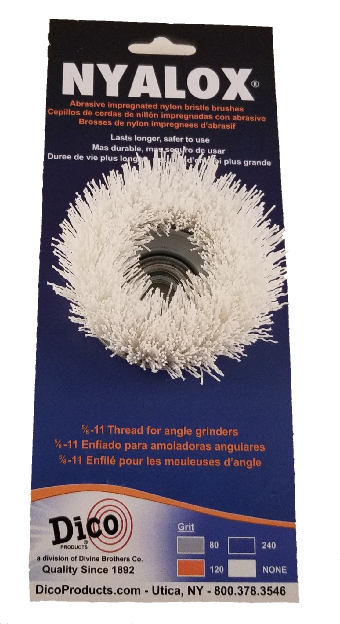 Dico Products 7200089 Non Abrasive Cup Brush For Angle Grinders, White