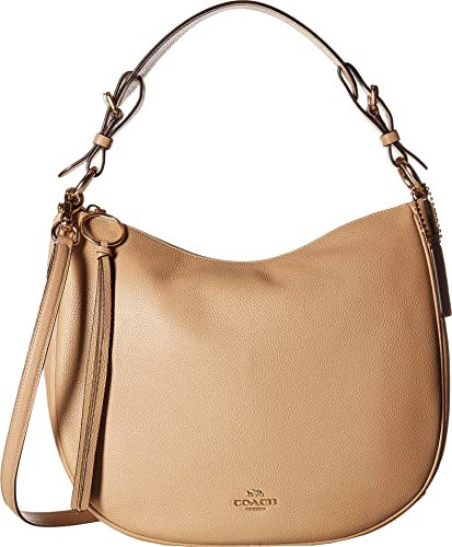ba417e88d9f7 Amazon.com  COACH Women s Polished Pebble Leather Sutton Hobo Beechwood Gold  One Size  Shoes