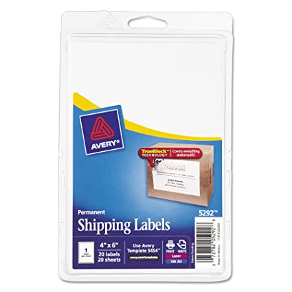 amazon com avery shipping labels with trueblock technology 4 x 6