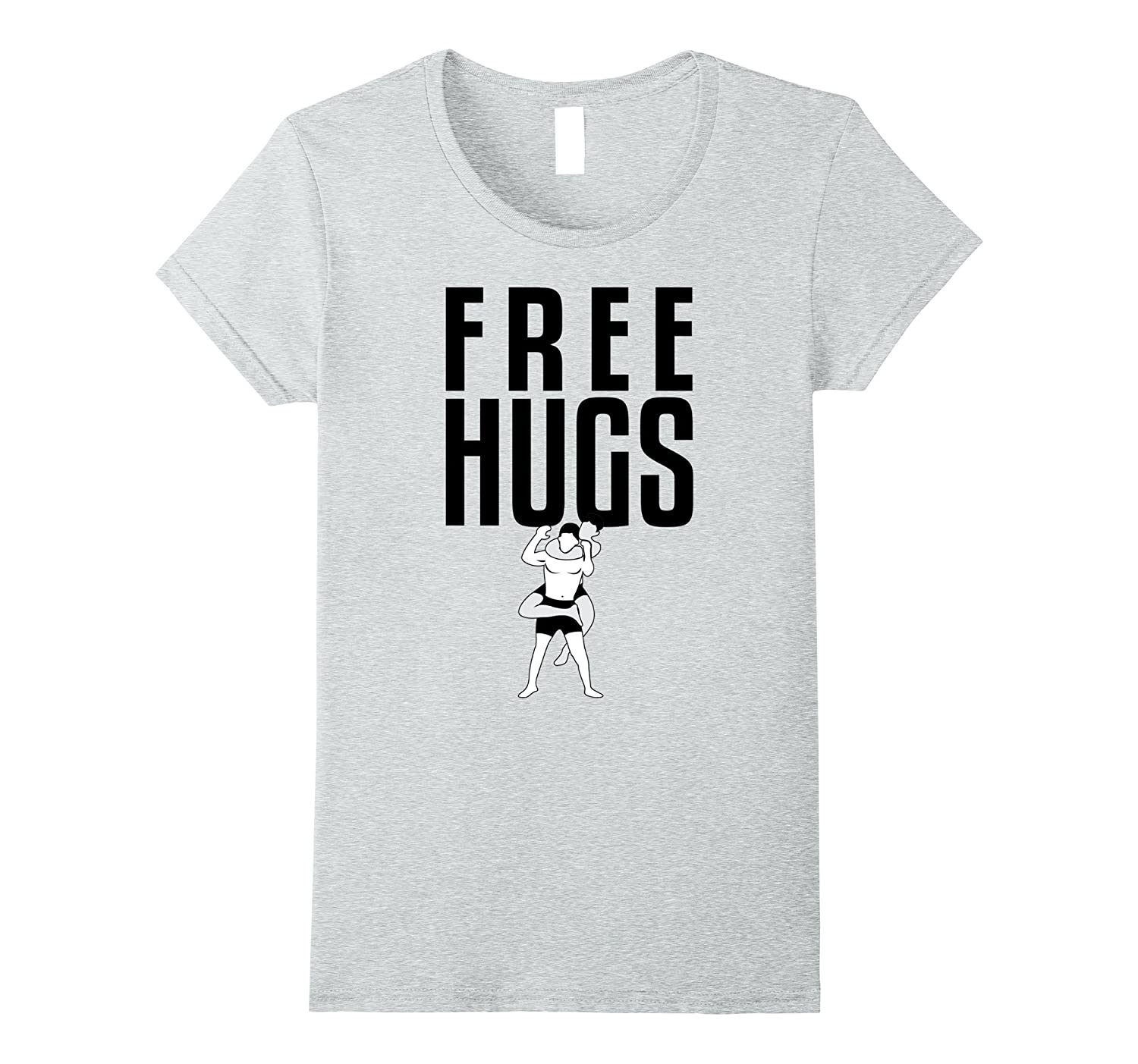 Free Hugs Jiu Jitsu BJJ MMA Grappling Rear Choke T-Shirt