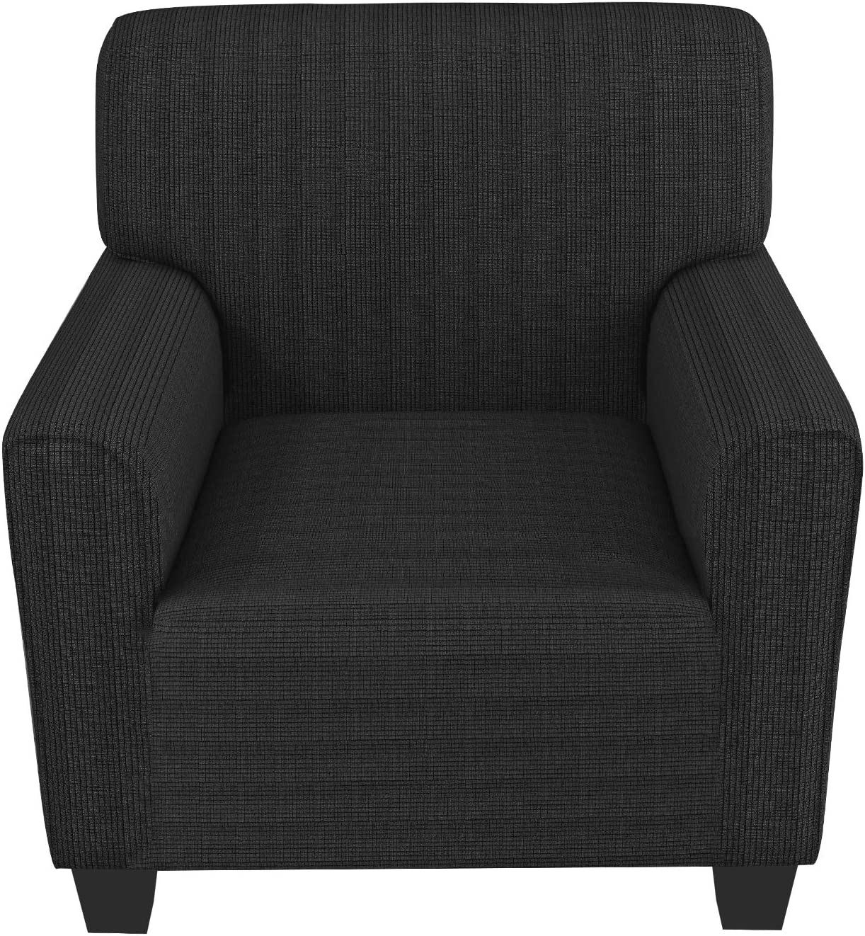 ZNSAYOTX Chair Slipcovers with Arms for Living Room High Stretchy Spandex Pet Friendly Armchair Furniture Protection Covers (Dark Grey, Chair)