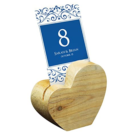 Amazon natural wood heart shaped business card place card natural wood heart shaped business card place card holder beige colourmoves