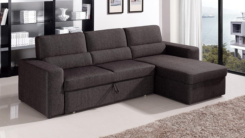 Amazon.com: Zuri Furniture Black/Brown Clubber Sleeper ...