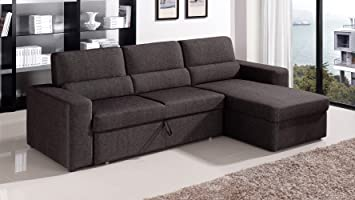 Sleeper sectional sofas with chaise for Beeson fabric queen sleeper chaise sofa