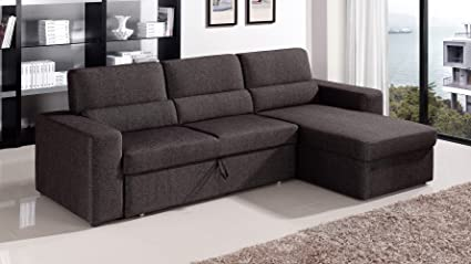 low priced 7b979 1fcd5 Amazon.com: Zuri Furniture Black/Brown Clubber Sleeper ...