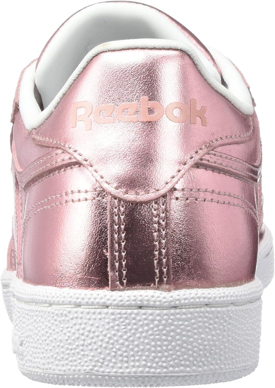 Reebok Club C 85 S Shine, Sneakers Basses Femme Rose Pink Pink