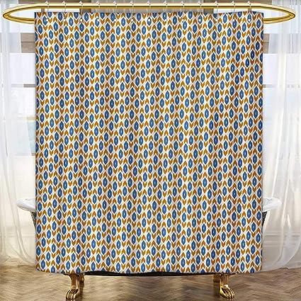 Amazon Lacencn IkatShower Curtains With Shower HooksMiddle