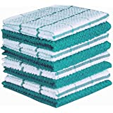 AMOUR INFINI Cotton Terry Kitchen Dish Cloths | Set of 8 | 12 x 12 Inches | Super Soft and Absorbent |100% Cotton Dish Rags |