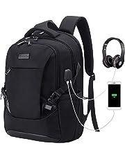 Tzowla Travel Laptop Backpack Anti-Theft Water Resistant Business Backpack TSA Lock & USB Charging Port TSA Friendly Computer Backpack Men Women College School Bag Fit 16 inch Laptops… (Black)