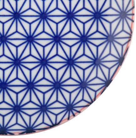 Tokyo Design Studio Starwave Side Plate - Star - Blue/Red at Amara