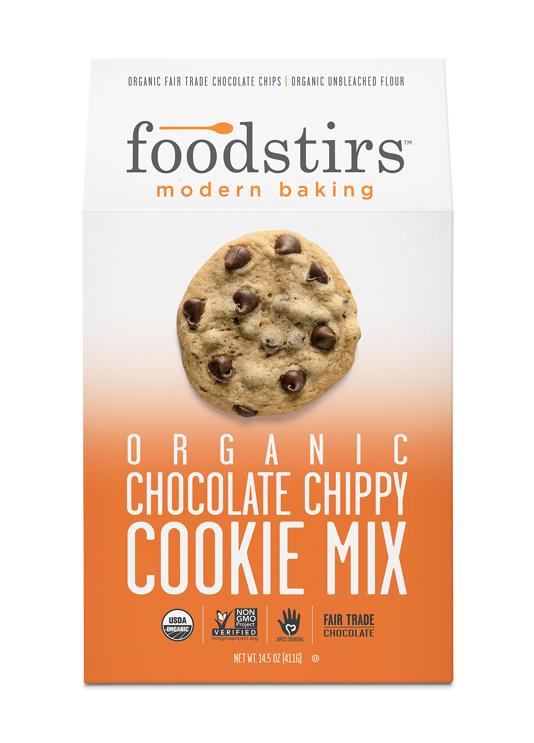 Foodstirs Organic, Non GMO Chocolate Chippy Cookie Mix, 14.5 Ounce