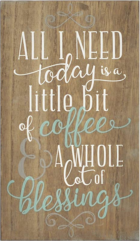 Amazon Com Stratton Home Decor Shd0254 Coffee And Blessings Wall Art 8 00 W X 0 50 D X 14 00 H Brown Home Kitchen