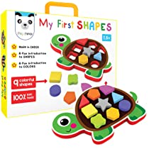 My First Shapes : Tortoise. A Fun Introduction to Shapes and Colors. Early Skill Development Like Motor Skills