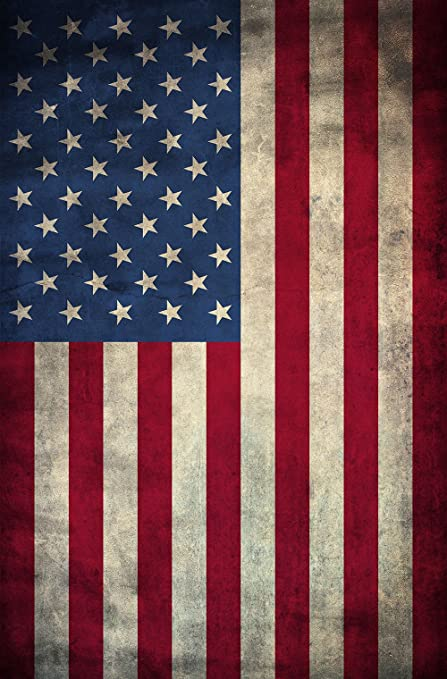 American Flag Canvas Print Vertical Ready to Hang, American made with authentic 13 stripes and